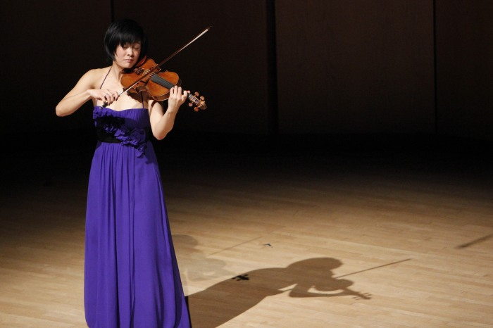 Jennifer Koh, credit Pick-Staiger Concert Hall, Christina Walker photographer 2